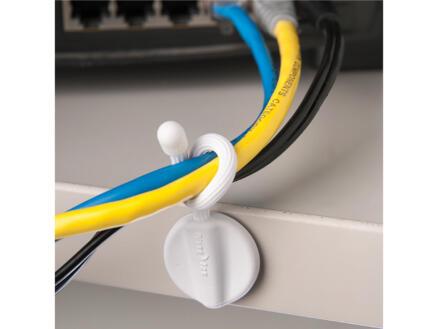 Nite Ize Gear Tie Mountable kabelbinder met klever 7,6x6,2 mm wit 2 stuks