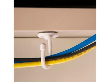 Gear Tie Mountables attache-câble adhésif 10,2x6,2 mm blanc 2 pièces