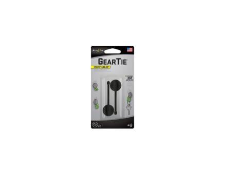 Gear Tie Mountables attache-câble adhésif 57x6,2 mm noir 2 pièces