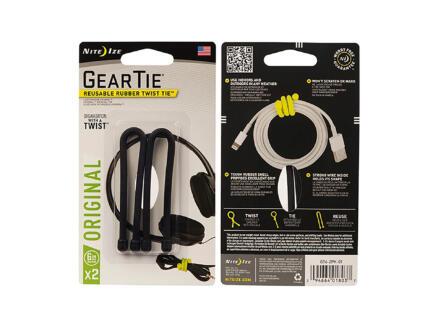 Nite Ize Gear Tie Original kabelbinder 152,4x6,4 mm zwart 2 stuks