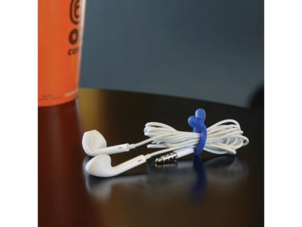 Nite Ize Gear Tie attache-câble 76x6,2 mm bleu 4 pièces