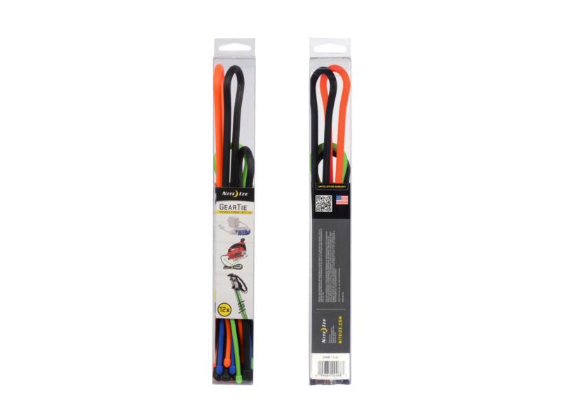 Nite Ize Gear Tie kabelbinder set 6,24mm 12-deligs