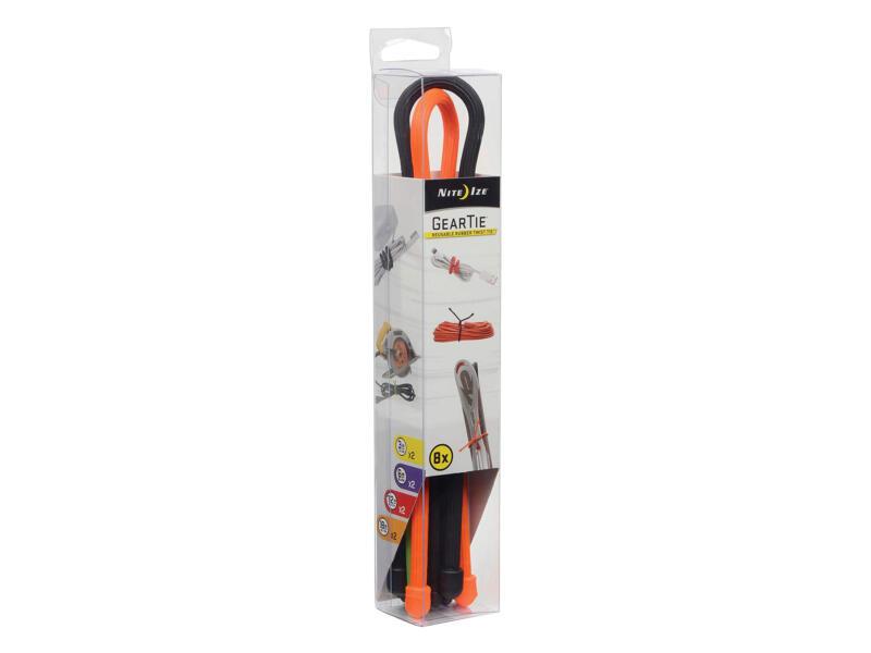 Nite Ize Gear Tie kabelbinder set 6,24mm 8-delig