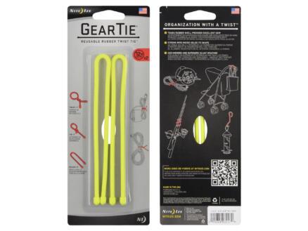 Gear Tie lien serre-câble 304,8x6,24 mm jaune 2 pièces