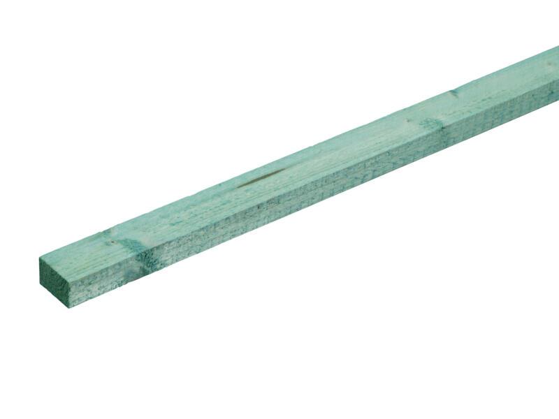 Gedrenkt hout +/- 25x32 mm  +/- 2,1m