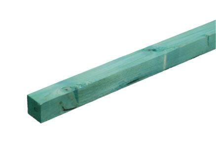 Gedrenkt hout +/- 47x47 mm  +/- 2,4m