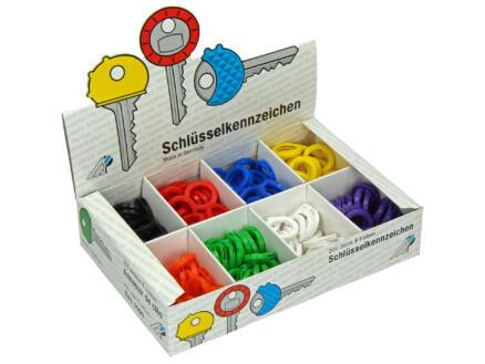 Gekleurde sleutelring beschikbaar in 8 kleuren