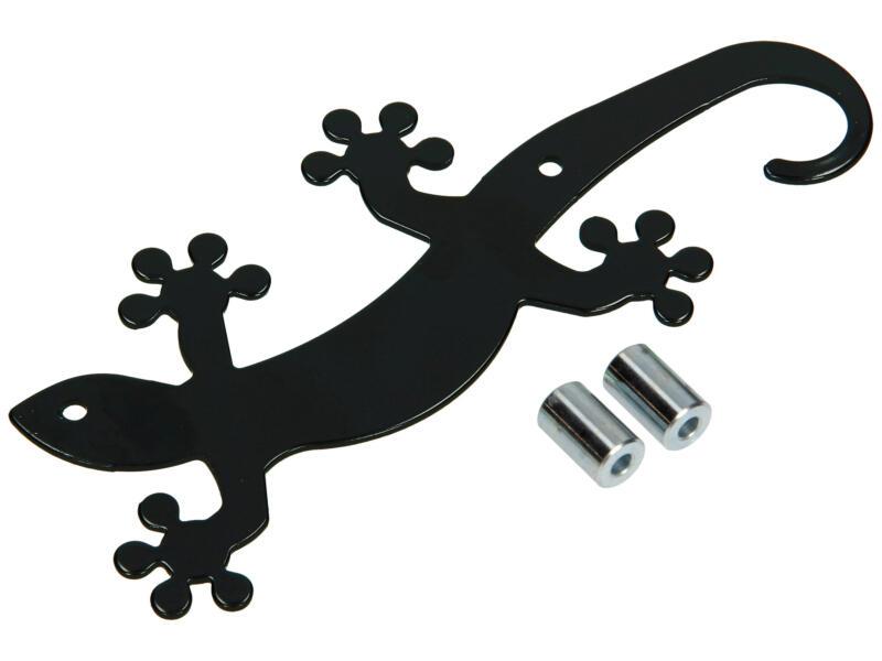Geko crochet portemanteau 5 crochets noir