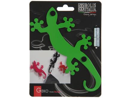 Geko crochet portemanteau 5 crochets vert