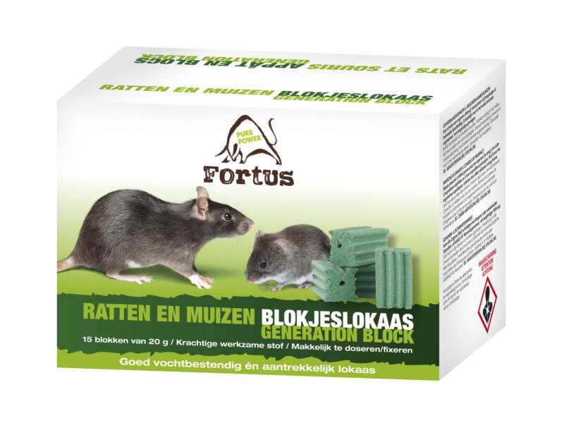 Fortus Generation Block lokaas tegen ratten en muizen 15x20 g