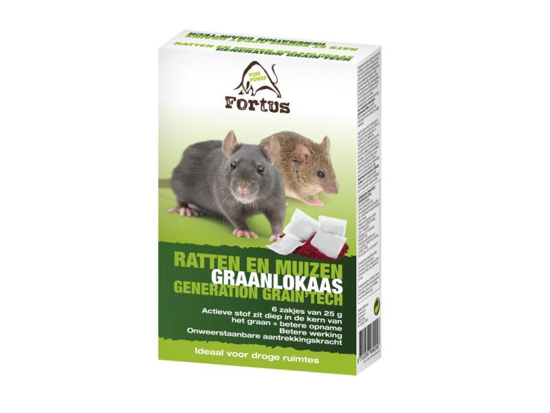 Fortus Generation Grain Tech korrels tegen ratten en muizen 6x25 g