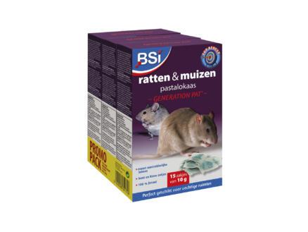 Bsi Generation Pat tegen muizen en ratten pastalokaas 15x10 g