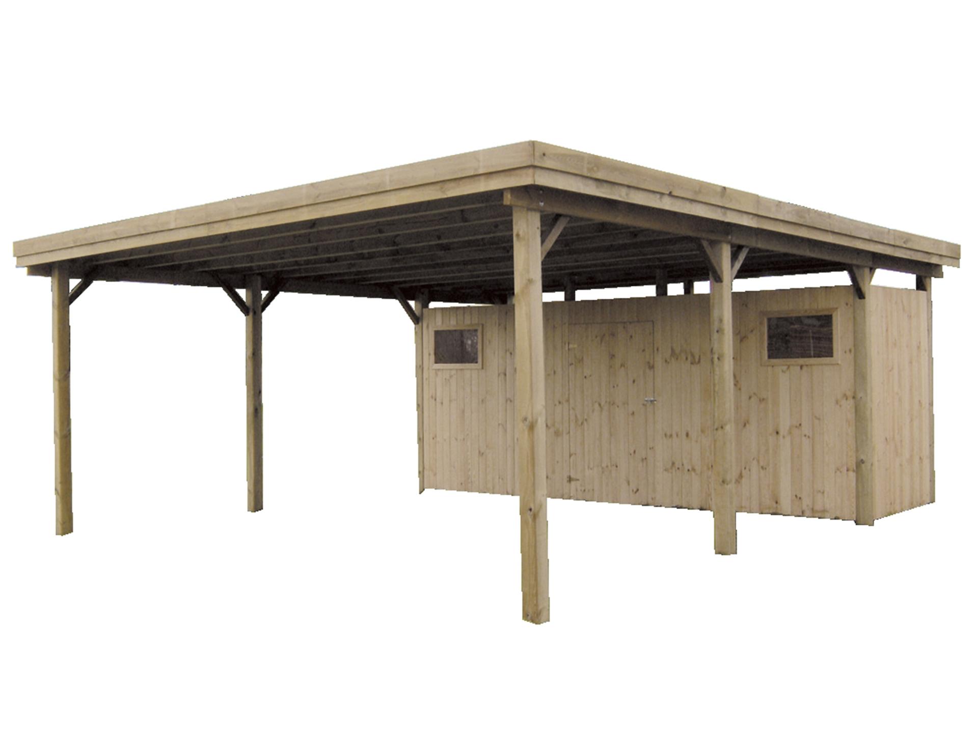 gardenas gent carport 600x670 cm hout hubo