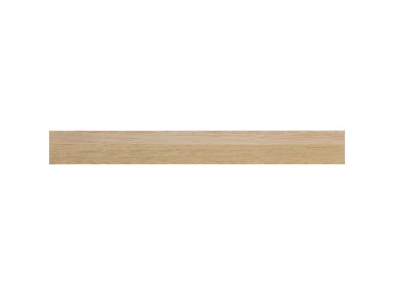 Geschaafde lat hardhout 12x12 mm 240cm wit