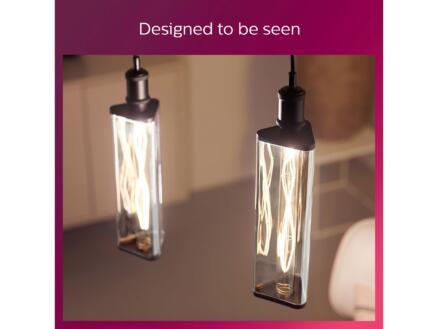 Philips Giant Modern Smoky crystal LED lamp E27 6,5W warm wit dimbaar