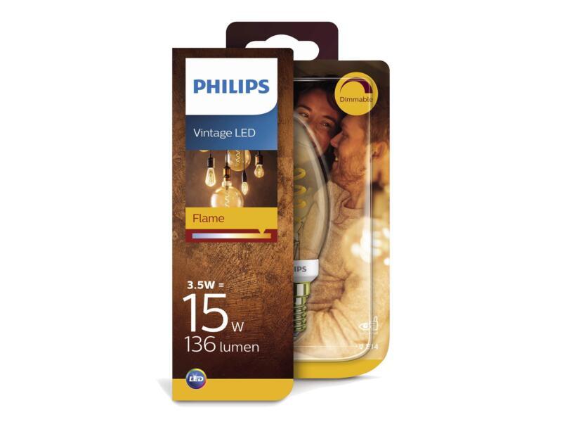 Philips Giant Vintage LED kaarslamp E14 3,5W dimbaar gold