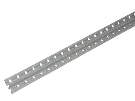 Gipsgeleider 2,5m 22x6 mm staal