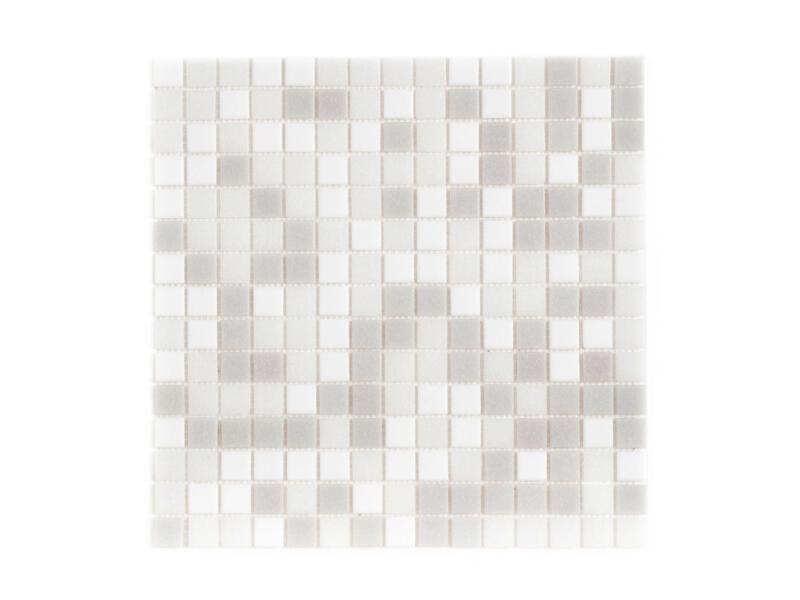 Glasmozaïek 32,7x32,7 cm 1,07m² grijs