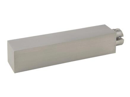 Go embout pour tringle à rideau 18x18 mm look inox 2 pièces