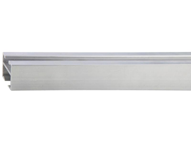 Go gordijnrail 18x18 mm 240cm inox look