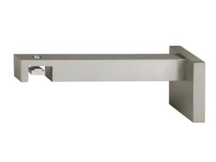 Go muursteun gordijnrails 18x18 mm 13cm inox look