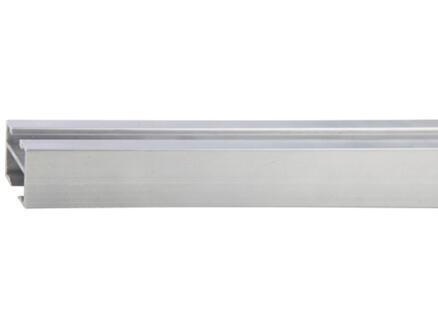Go rail de rideau 18x18 mm 240cm look inox