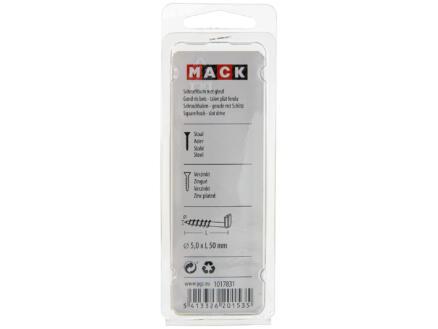 Mack Gonds à vis fendus 50x5 mm zingué 5 pièces