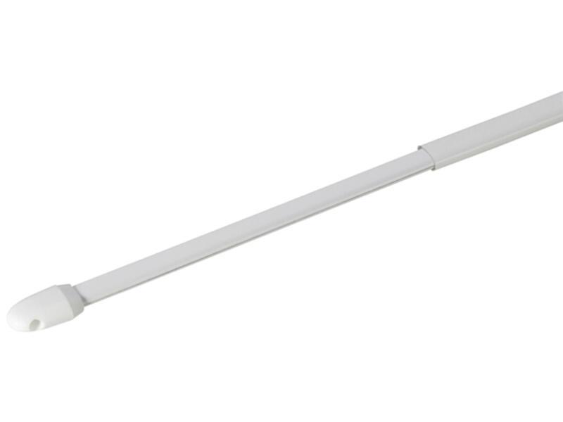 Gordijnroede uitschuifbaar 80-150 cm wit 2 stuks