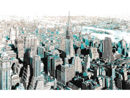 Gotham intissé photo 8 bandes