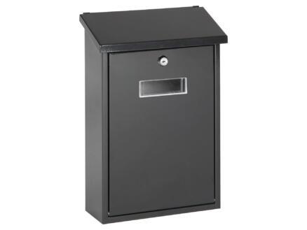 Starcko Granada brievenbus gelakt staal zwart