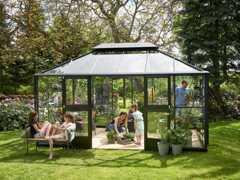 Juliana Grand Oase 130 serre de jardin verre de sécurité anthracite | Hubo