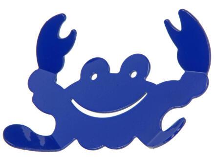Grankio crochet portemanteau 4 crochets bleu