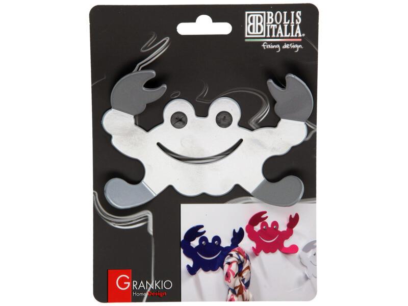 Grankio crochet portemanteau 4 crochets gris