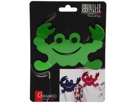 Grankio crochet portemanteau 4 crochets vert