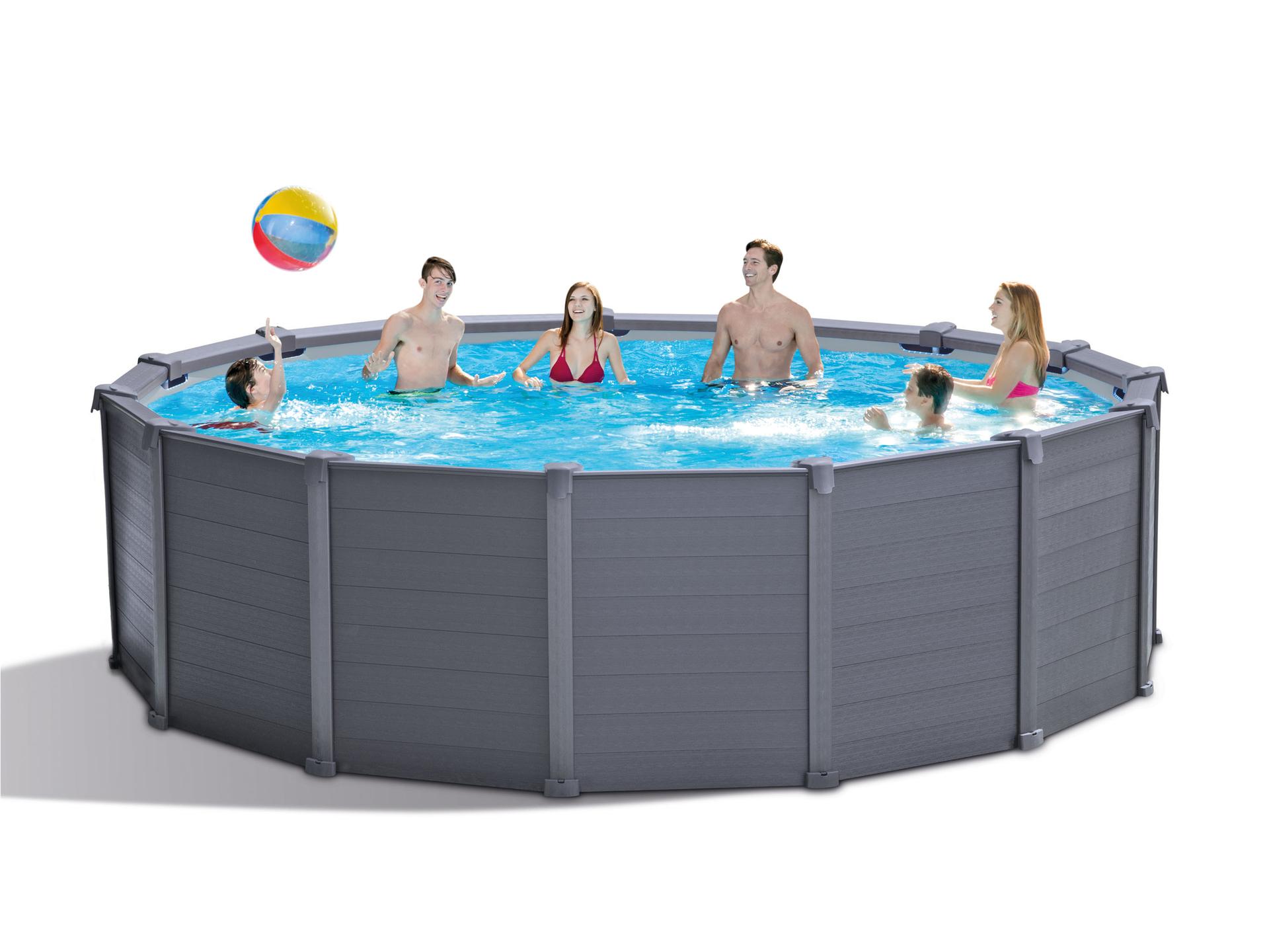 Voir Piscine Hors Sol intex graphite panel piscine hors sol 478x122 cm + pompe