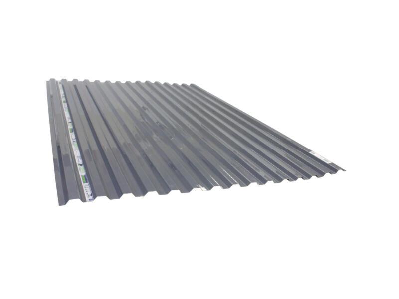 Scala Greca plaque ondulée trapèze 183x115 cm gris polycarbonate opalin