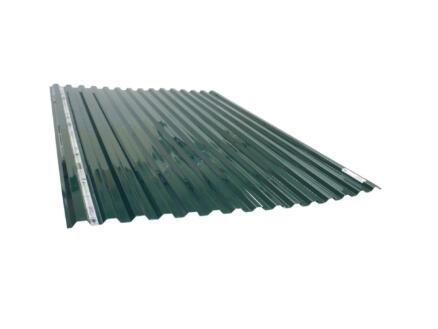 Scala Greca plaque ondulée trapèze 183x115 cm polycarbonate vert opalin