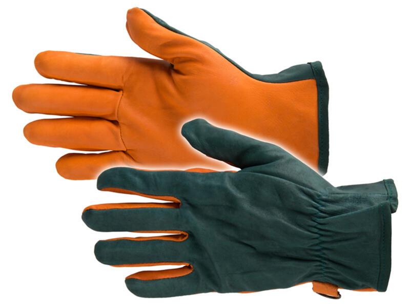 Busters Greenfield tuinhandschoenen M leer groen en oranje