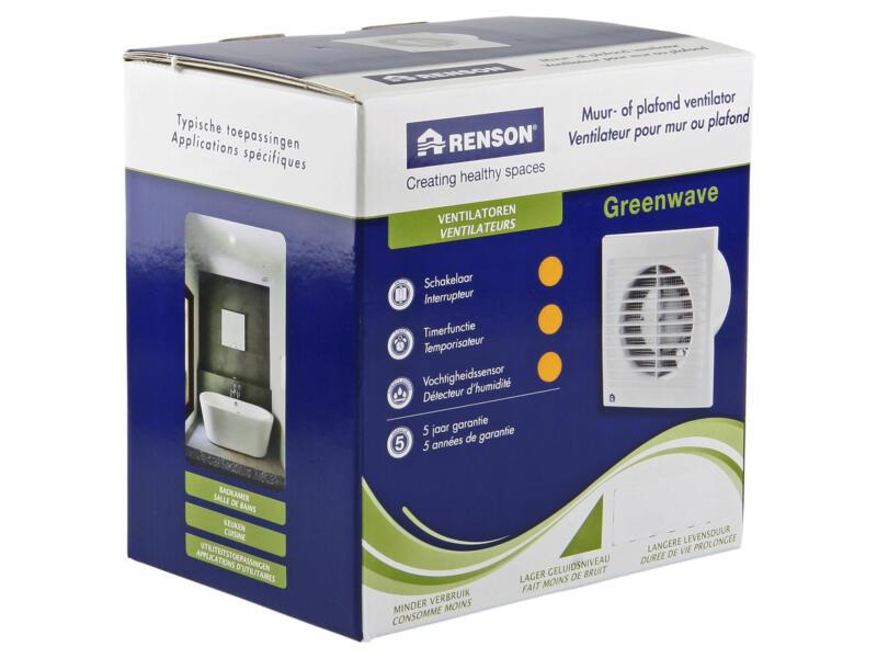 Renson Greenwave extracteur d'air mécanique type 9403-H 150mm blanc