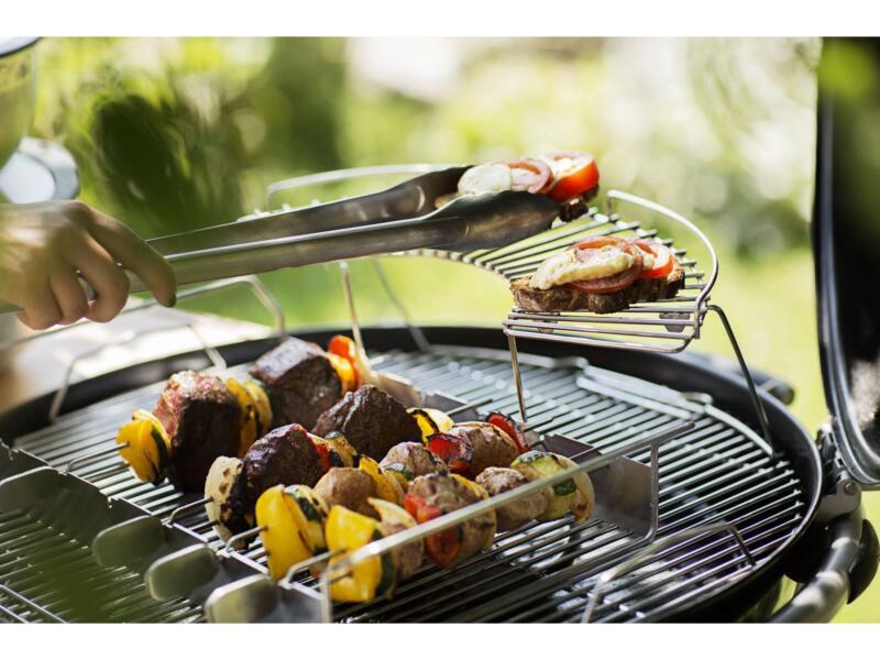 Grillspies barbecue met houder set 7-delig