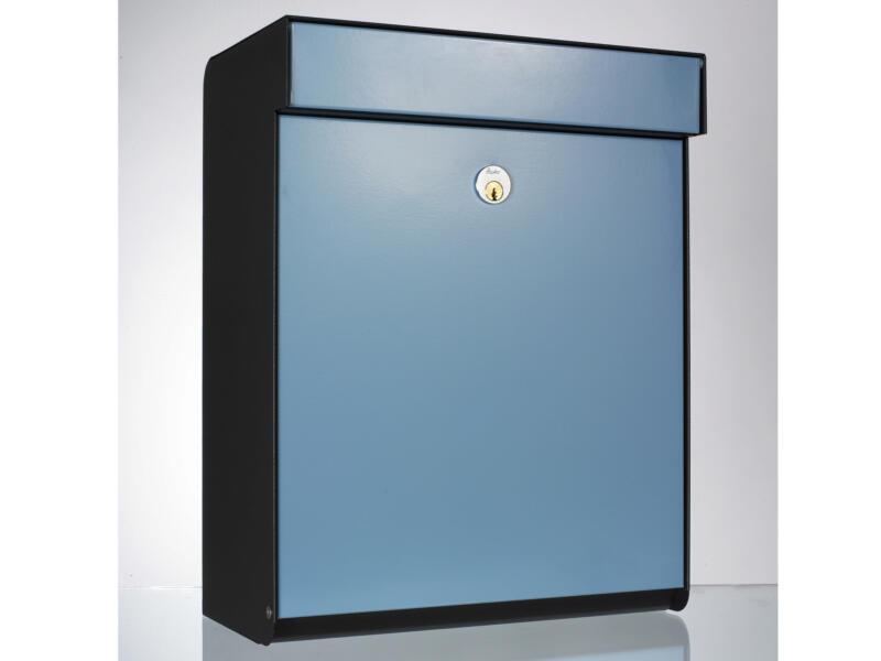 Allux Grundform boîte aux lettres acier galvanisé bleu
