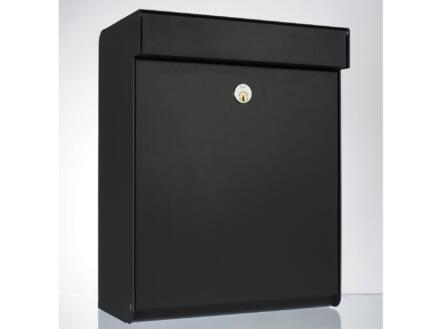 Allux Grundform boîte aux lettres acier galvanisé noir