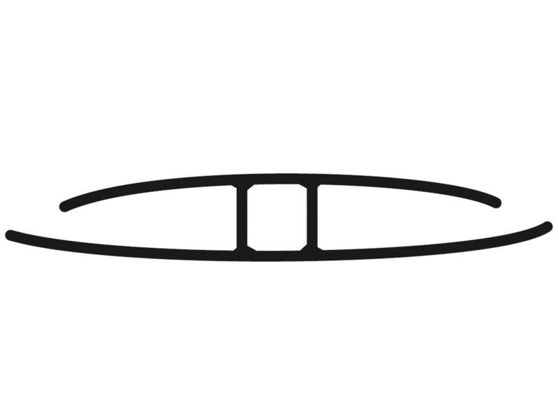 Scala H-profiel 200cm 10mm transparant