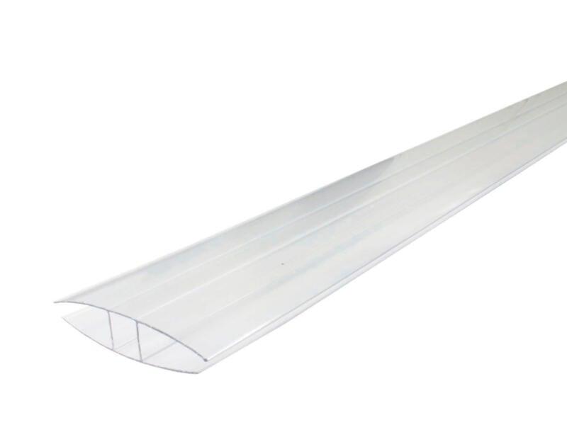 Scala H-profiel 2m 16mm PVC transparant