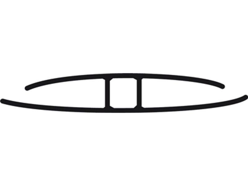 Scala H-profiel 3m 10mm polycarbonaat helder