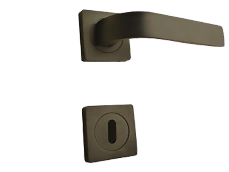 Solid H012 deurklinkset op rozet 50mm zwart