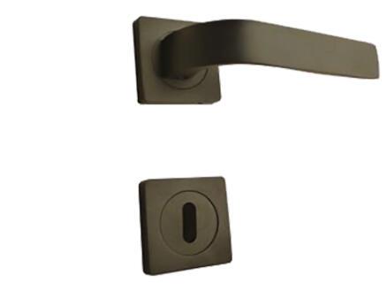 Solid H012 poignée de porte avec rosace 50mm noir