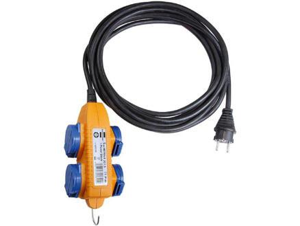 Brennenstuhl H07RN-F 3G2,5 stekkerdoos IP44 4x met kabel 5m