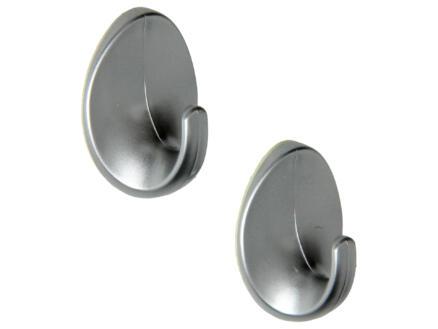Mack Haak zelfklevend ovaal aluminium 2 stuks