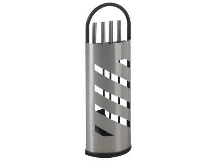 Practo Home Haardset design 5-delig inox 67cm hoog